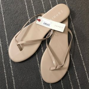Esprit Party Flip Flip in Light Beige Size 11
